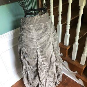 Grey batik Scallop skirt
